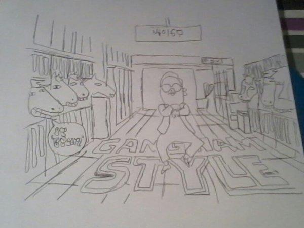 Voici mon dessin il me reste plus qu a le colorier