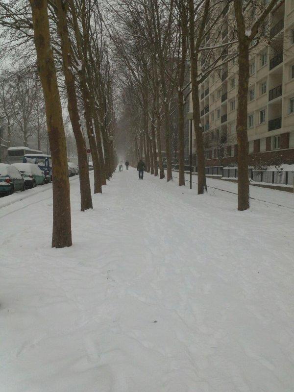 la neige bataille avec eux