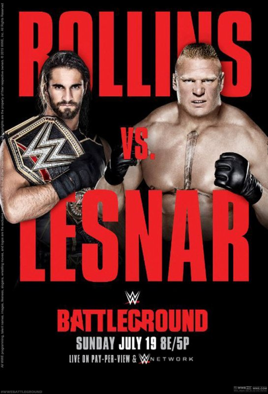 WWE Battleground 2015 (PPV) <3