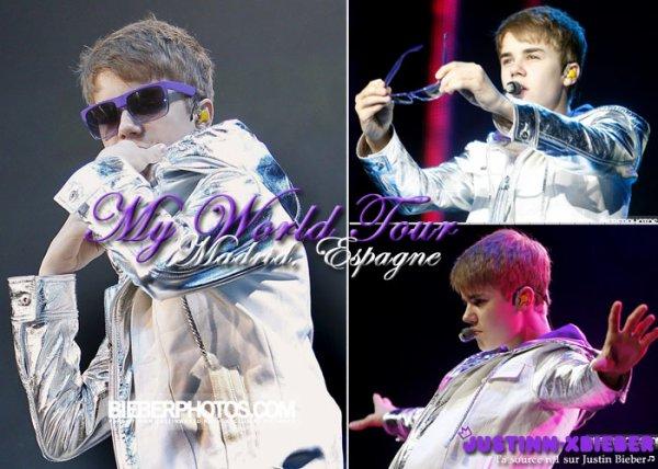 Justin joue au Football + Photocall & Concert Madrid