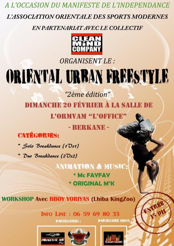 ORIENTAL URBAN FREESTYLE - 2ème édition - 20 Février 2011