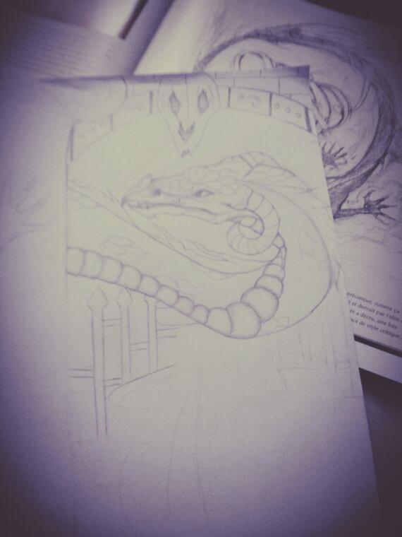 Gros dessin en cours, qu'en pensez-vous ? :3