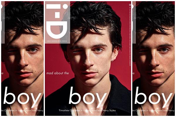 Timothée pour le magazine i-D Magazine :