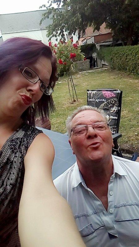 mon père et moi le jour de son Annif le 11 juin