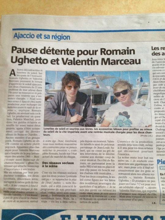 Vous le saviez peu être mais avant le studio Romain était en vacances, en corse. Avec Jéremie duvall et Valentin Marceau.