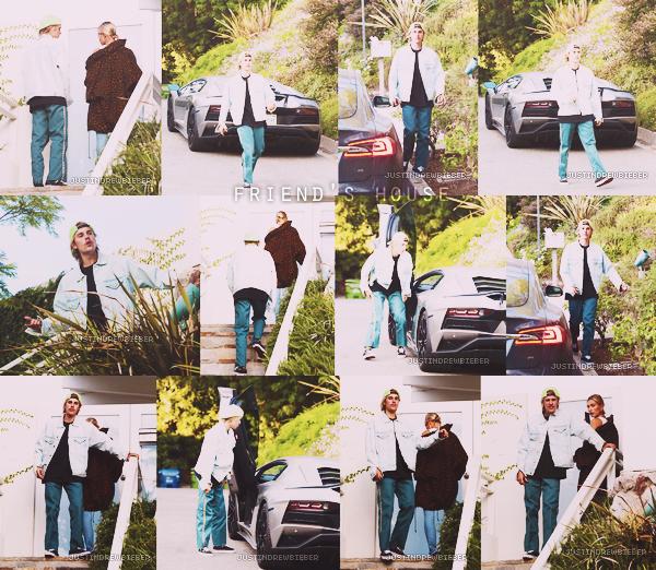 * =' 28 AUGUST ●=   Justin et Hailey Baldwin chez un ami à Los Angeles. *