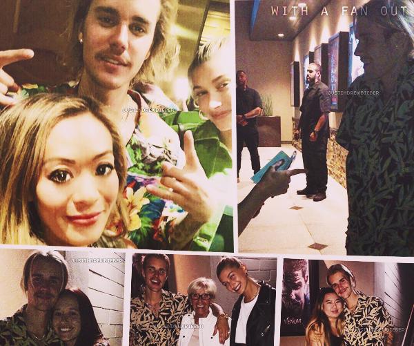 * =' 30 AUGUST ●= | Justin et Hailey Baldwin avec des fans à Beverly Hills. *