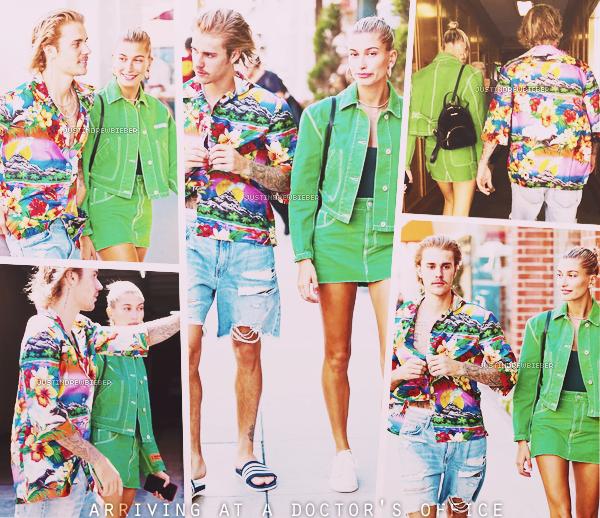 * =' 30 AUGUST ●= | Justin et Hailey Baldwin arrivant et partant du médecin à Beverly Hills. *