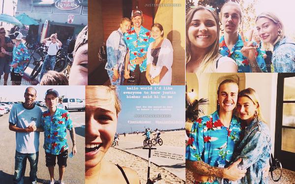 * =' 25/26 AUGUST ●=   Justin et Hailey Baldwin avec des fans à Beverly Hills. *