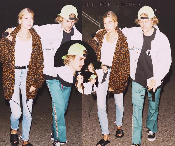 * =' 28 AUGUST ●=   Justin et Hailey Baldwin sortis pour diner à Los Angeles. *