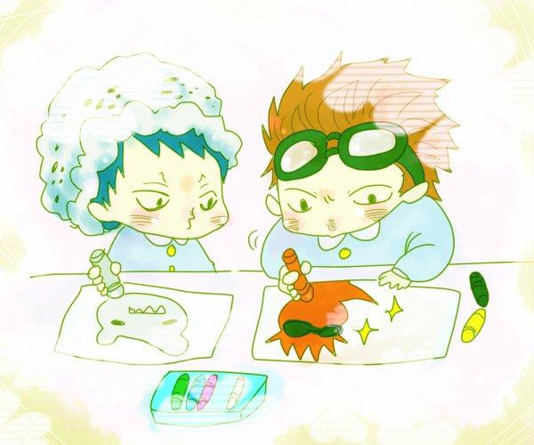 Les personnages de One Piece dans leur enfance <3
