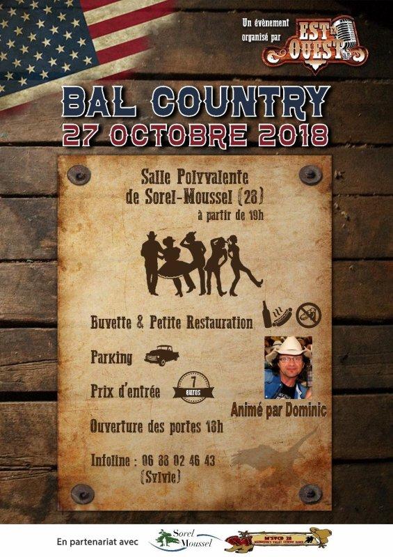 Bal country 27 octobre à Sorel Moussel