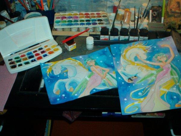 Mes aquarelle