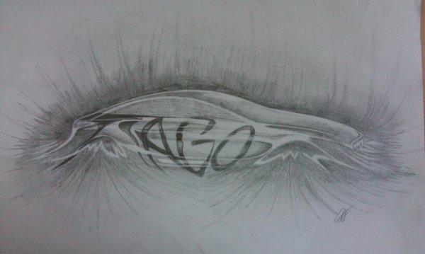 Pour Tiago, dessin réservé par Frank Ren, tatoueur pro ! Merci