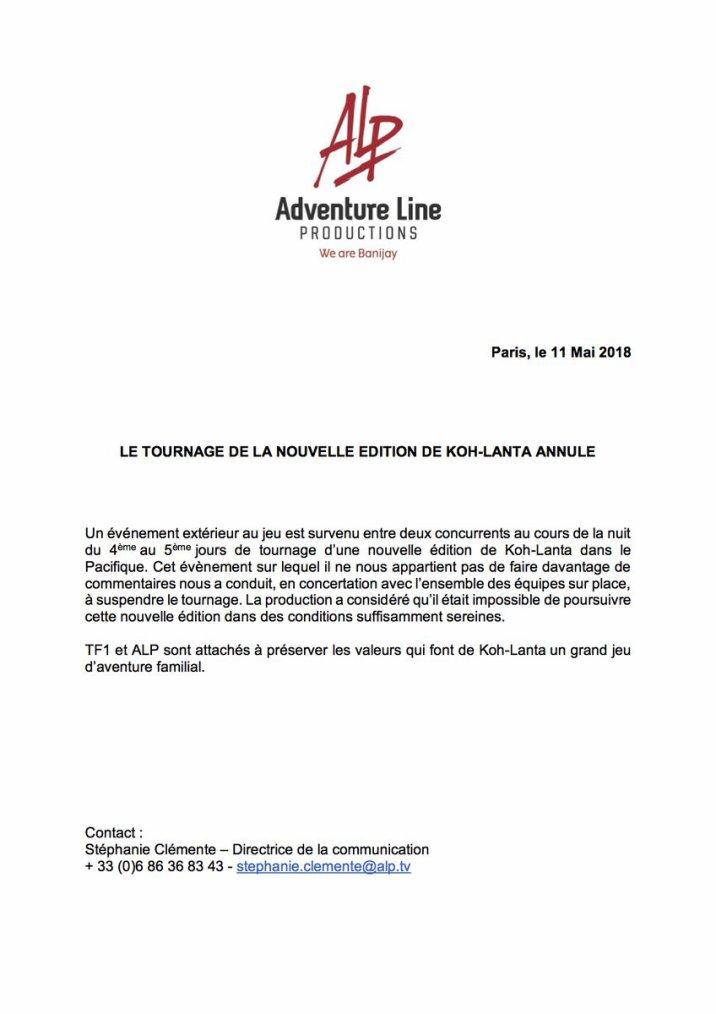#DernièresMinutes : Tournage de la nouvelle saison annulé !
