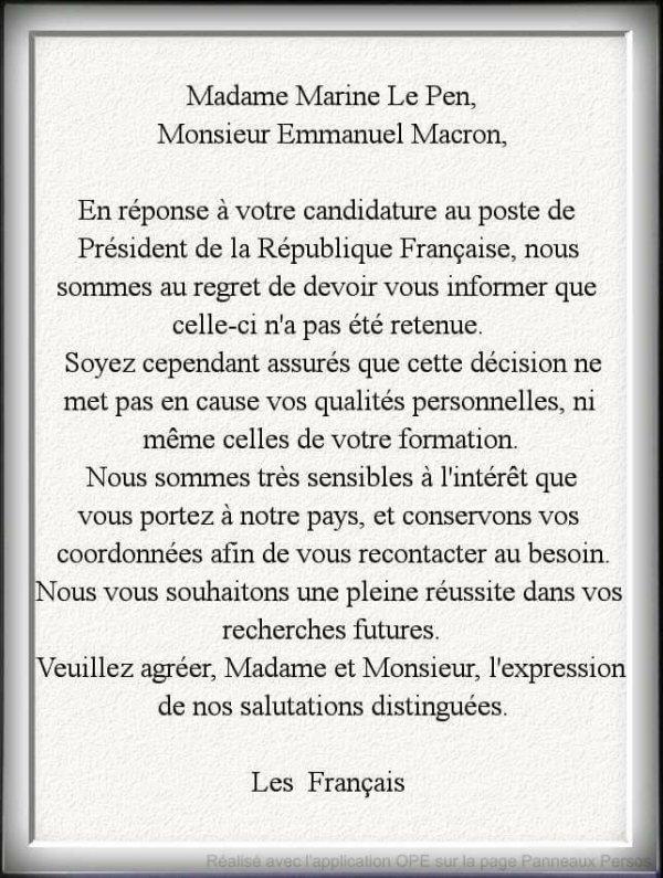 Elections (encore)