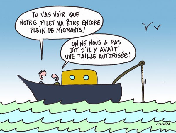 Pêche aux migrants.