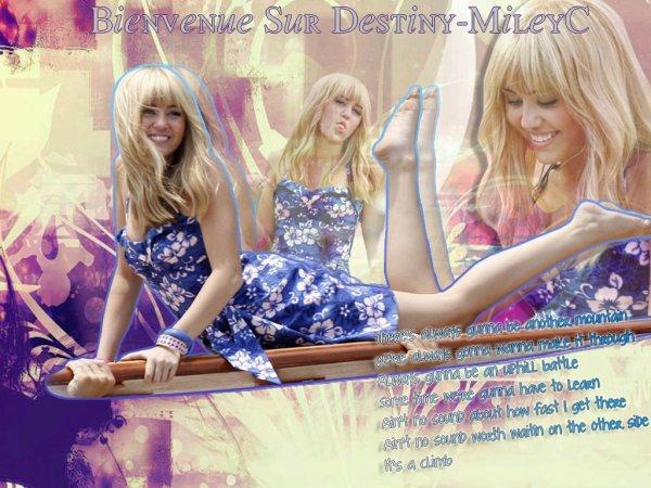 Bienvenue sur Destiny-MileyC Ta source sur Miley Cyrus