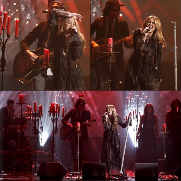 . 21/11/10 au Soir : Miley était présente au American Music Awards. Elle y a chanté Forgivenness & Love. Elle devait chanter Every Rose has its Torn, mais elle a changé au dernier moment en vue des récents évenements.  En effet, Tish aurait trompé Billy Ray. Cette chanson serait donc un message pour ce dernier. .