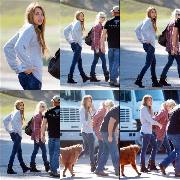 . Rattrapage : . 18.11.10 : Miley s'entrainait dans un stand de tir pour son prochain film, So Undercover. 26.11.10 : Miley et Tish sont allées dans un salon de Beauté.  27.11.10 : Miley a rendu visite à une amie dans Toluca lake. 28.11.10 : Miley et des amis sont allées déjeuner à Panera Bread. .