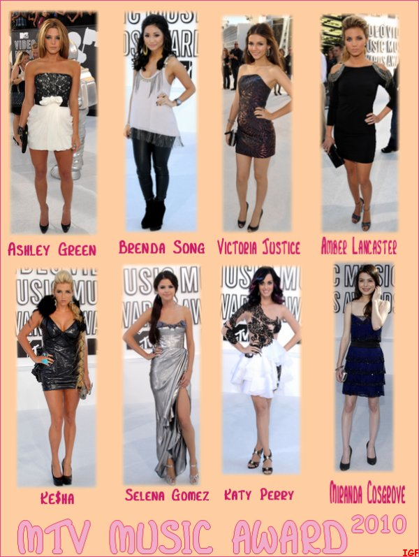 12/09/10 : MTV MUSIC VIDEO AWARDS : Les meilleurs looks, les pires ? Dites- moi tout ! :)
