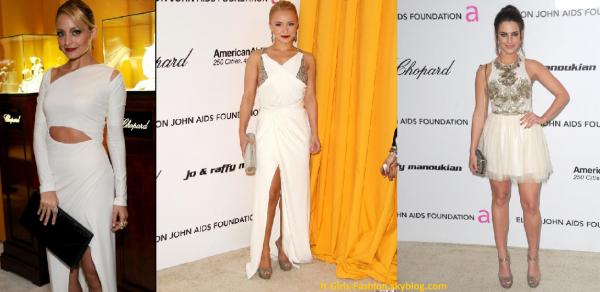 27.02.11 : Le blanc était à l'honneur à la 19eme édition de la Elton John AIDS Foundation - Nicole Richie, Hayden Pannetière, Jessica Lowndes -