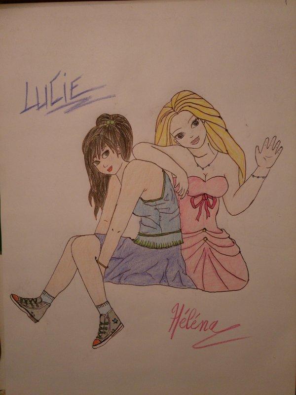 Dessines Lucie et Héléna