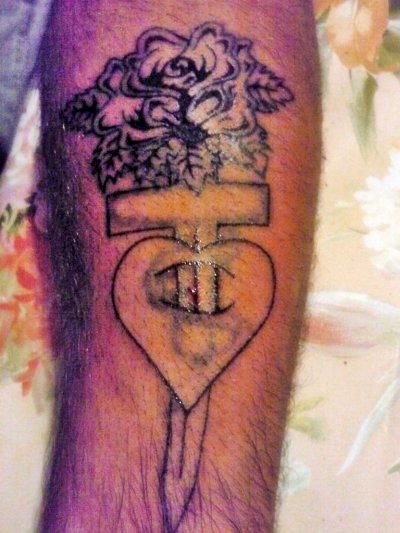 Ceci est un ratrapage sur un autre tatouage , Photo prise en cours de travail
