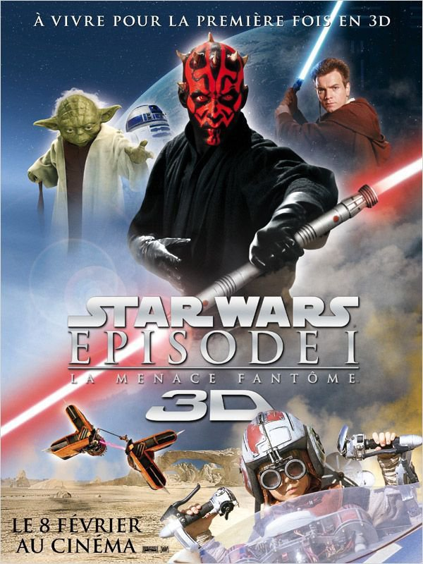 STAR WARS épisode I : La menace fantôme. 3D