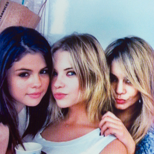 selly sur le tournage de Spring Breakers