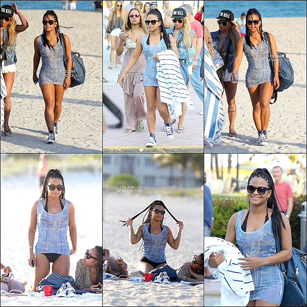 .  26/01/13 : Notre jeune et belle maman passait du temps avec des amies sur la plage de Miami Beach ! .