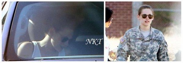 Kristen sur le tournage de Camp X Ray le 21/07/13 et le 26/07/13