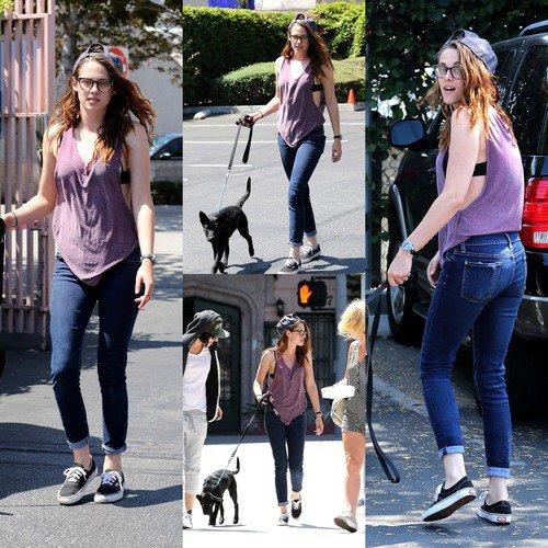 Kristen le 28/07/13 et 29/07/13 avec son nouveau chien et ses amis à Los Angeles! + Taylor sur le tournage de Tracers le 27/07/13 et dans la rue le 29/07/13