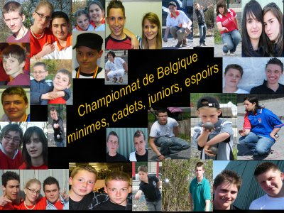 CHAMPIONNAT DE BELGIQUE MINIMES-CADETS-JUNIORS-ESPOIRS LES 21 MAI 2009