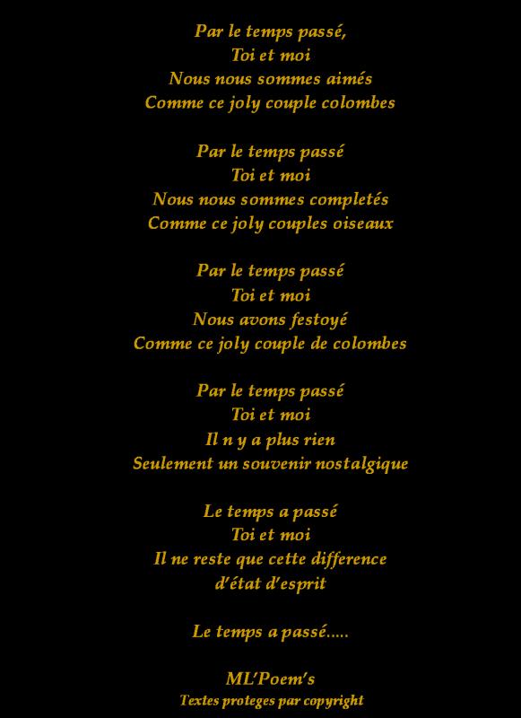 Poème De Mlpoems Par Le Temps Passe Le Cercle Du