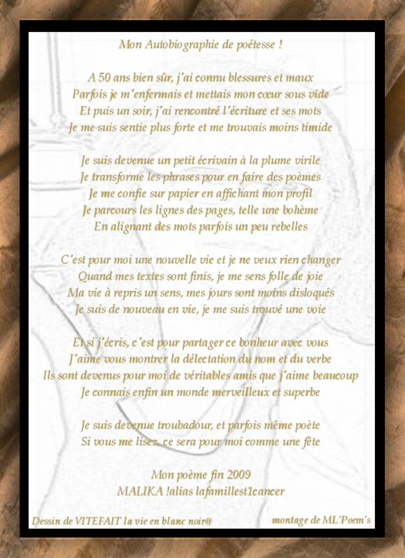 Poème De Lafamilleest1cancer Autobiographie Dune Poetesse
