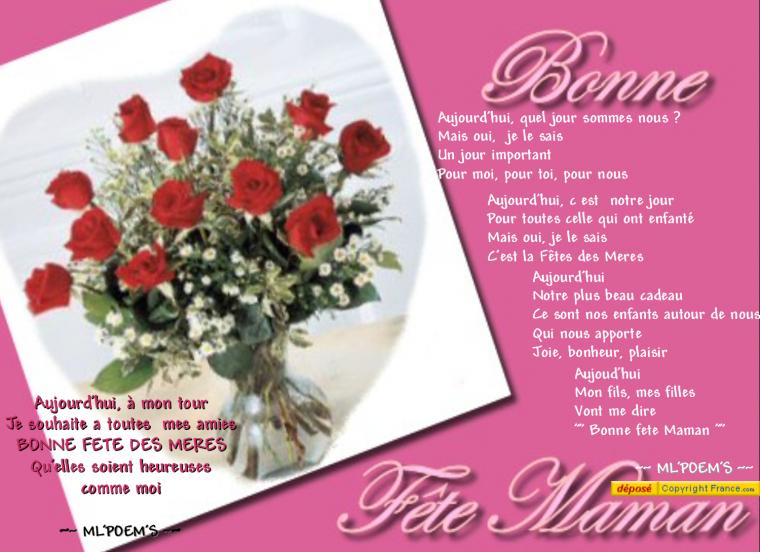 Bonne Fête à Toutes les Mamans......