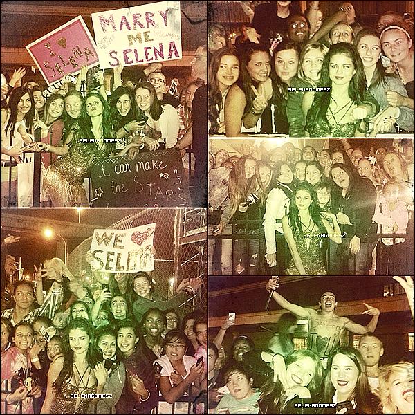 . 15.10.13 : Stars Dance Tour, à Buffalo, New York + Meet and Greet + Photos Instagram de Selena .
