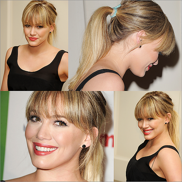 FlashBack  Hilary lors de l'évenement « Kimberly Snyder Book Launch Party For « The Beauty Detox Solution » » qui a eu lieu le 13 Avril 2011! Hilary était vraiment magnifique et cette coupe lui va vraiment trés bien ! ♥