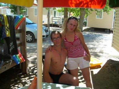 Mon homme et moi en vacances