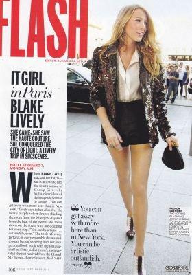 09/2010 Blake lively pour le magazine Vogue , Steptembre.