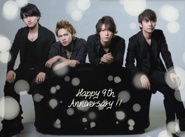 Happy 9th Anniversary KAT-TUN !!!