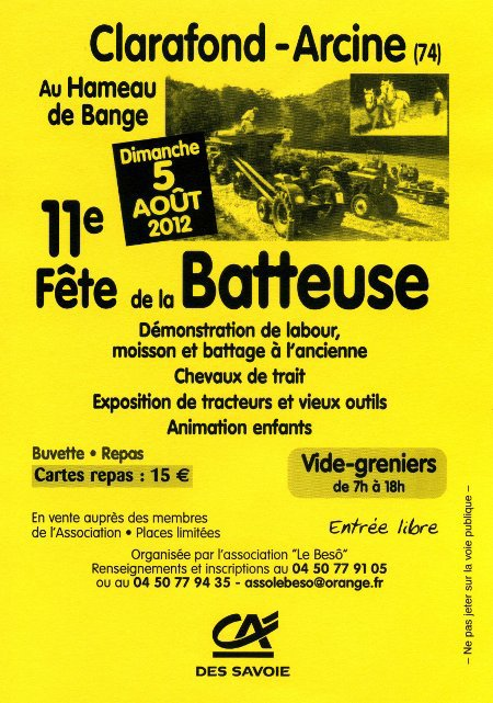 FETE DE LA BATTEUSE A ARCINE CLARAFOND (74)