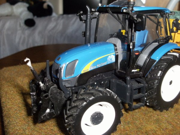 MODIF NEW HOLLAND T6020 ET BENNE DANGREVILLE 9T