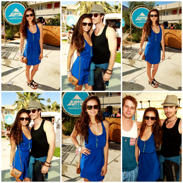 APPEARANCES Le 14/04/12 et le 15/04/12, Nina Dobrev et Ian Somerhalder étaient au Burton Pool Party - Coachella Music Festival en amoureux ! Ils sont trop mignons tous les deux, vous ne trouvez pas ?