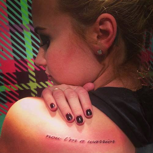 """Now I'm a WARRIOR"" <3"