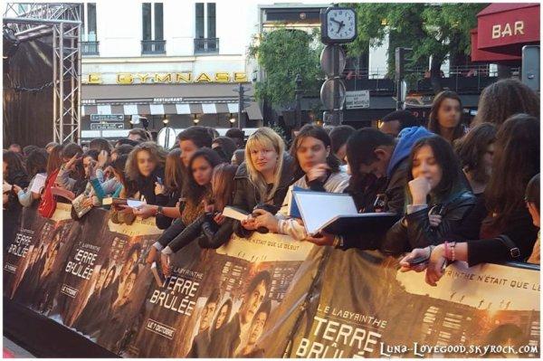 Avant- Première Le Labyrinthe au GRAND REX à PARIS le Mardi 30 septembre 2015