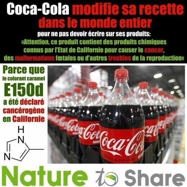 COCA COLA CHANGE SA COMPOSITION DANS LE MONDE ENTIER
