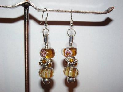 """Boucles d'Oreilles et/ou Bracelet """"Le Miel"""""""""""