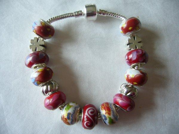 """Boucles d'Oreilles et/ou Bracelet """"Le Rouge de Chine"""""""